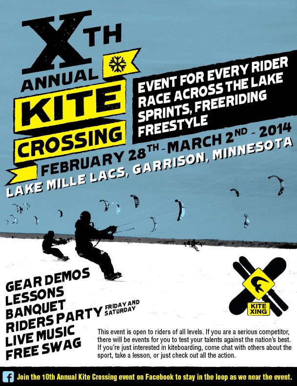 Tenth Annual Kite Crossing Event Feb 28-Mar 2, 2014